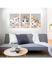 3Pcs/1Set DIY Princess Photo Frame Cat Decoration Paste Ins Wind Wall Sticker