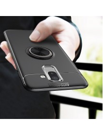 C-KU 360 Rotating Ring Grip Kicktand Protective Case For Samsung Galaxy J8 2018
