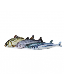 Yani 30cm Large Size  Interactive Pets Pillow Catnip Toys Simulation Plush Fish Shape Doll Chew Bite Cat Toys