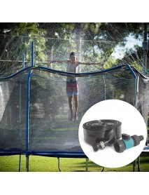 12m Trampoline Sprinkler Outside Water Toys Faucet Garden Cooling Tools with 25pcs ties for Patio Yard Park