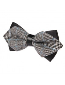 Men British Style Stripes Bowknot Business Wedding Party Bow Tie