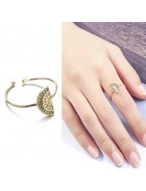 Lovely Lemon 18K Gold Zircon Finger Ring Cute Adjustable Rings Jewerly Gift for Women