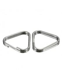 2Pcs Replacement Metal Chrome Finish Split Ring Camera Strap Triangle Rings Hook