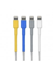 10 Packs PVC Cable Saver Protector For Apple Lightning Adapter USB Cable