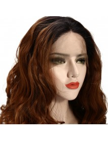 22 Lace Front Wigs Gold Ombre Bob Two Tone Wave Wig Baby Hair Pre Plucked