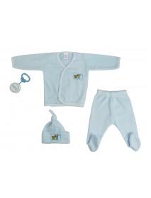 Bambini 4 Piece Fleece Set - Blue