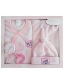 Bambini 4 Piece Fleece Set - Pink