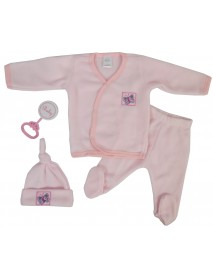 Bambini 4 Piece Fleece Set - Pink