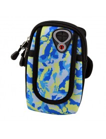 Outdoor Sports Running Waterproof Camouflage Arm Band Bag Phone Pouch Case for iPhone 8 Mobile Phone
