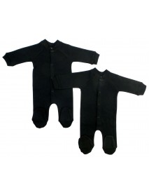 Bambini Black Interlock Sleep & Play (Pack of 2)