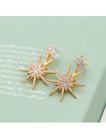 1Pc Fashion Ear Drop Earring Rhinestone Snowflake Dangle Earrings Accessories Jewelry for Women