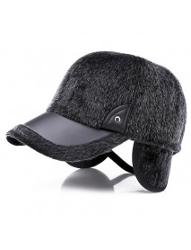 Artificial Marten Hair Earmuffs Baseball Cap Winter Warm Thicken Peaked Hat Adjustable