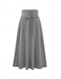 Casual Women Solid Color Skirts