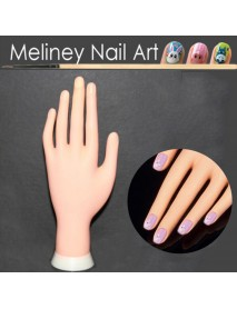 Bendable Table Mount Soft Manicure Practice Model Nail Art Training Faux Hand Re-usable convenient for nail art practicing soft