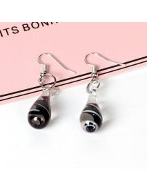 Bohemian Women's Dangle Earrings Spiral Flower Colored Glaze Drop Piercing Earring Unique Gift