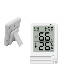 Bakeey Time HD Display Intelligent Digital Thermometer Hygrometer for Office Bedroom without Battery