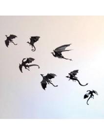 Halloween Spooky 3D Pterosaur Wall Glass Window Wall Sticker Party Decoration 7pcs
