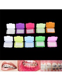 50 pcs Dental Flavoured Relief Ortho Wax Brace Fruit Scent Gum Irritation Set Oral Tools Wax