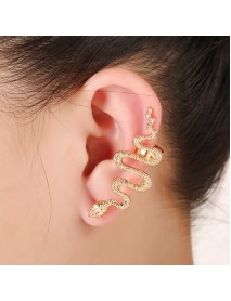1Pc Exaggerate Snake Left Right Ear Cuff Zinc Alloy Silver Gold Earrings