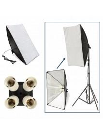 50cm x 70cm Studio Lighting Photo Softbox For 4 Socket E27 Lamp Bulb Head European