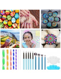35 Pcs Mandala Dotting Tools Set for Painting Rocks Pottery Portable Multifunctional Handwork Embossing Dot Kit Dotting Tool Set