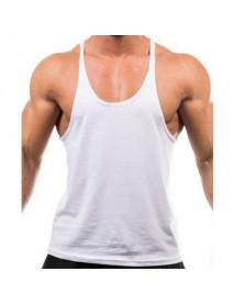 Men Summer Cotton Plain Gym Tank Top Sleeveless T-shirt Workout Bodybuilding Singlet