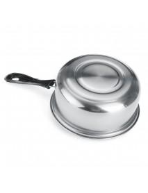 16cm Stainless Steel Steam Pot Thickening Hot Milk Pot Noodles Home Kitchen Cookware for Dinner Maker