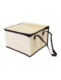 6 Inch Non-woven Fresh keeping Tote Bag with Zipper Cake Picnic Lunch Bag Reusable Grocery Bag