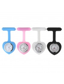 Silicon Colorful Sweet Heart Pocket Watches Clip Nurse Doctor Pendant Quartz Watch