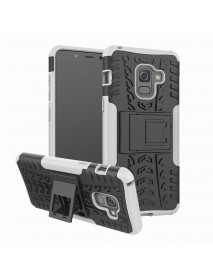 Bakee 2 in 1 Armor Kickstand TPU PC Protective Case for Samsung Galaxy A8 2018