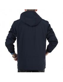 Mens Casual Outdoor Sport Hoodies Trench Coat Windproof Waterproof Coat