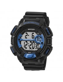SANDA 319 Digital Watch Luminous Display Calendar Alarm Stopwatch Watch Outdoor Sport Watch
