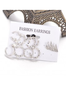 9Pcs Cartilage Earring Set for Women No Piercing Pearl Cuff Diamond Ear Stud
