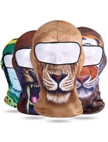 3D Print Balaclava Animal Windproof Sweat Wicking Riding Mask Outdoor Neck Protector Face Mask Cap