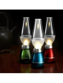 Loskii DX-212 0.4W DC5V Power Dimmable USB LED Blowing Control Night Light Vintage Kerosene Lamp