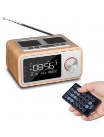 LOCI H3 Bluetooth Speaker Alarm Clock Media Audio Music Clock Radio USB Charging MP3 Player Remote Control