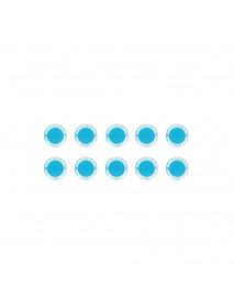 10Pcs Blue 24mm Push Button for Arcade Game Console Controller DIY