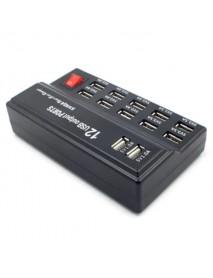 12 Ports USB Smart Quick Charger Charging Station Adapter EU PLUG