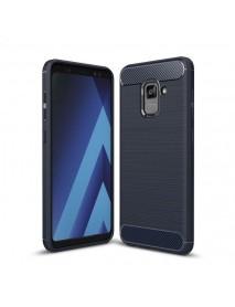 Bakeey Carbon Fiber Texture Anti Fingerprint Soft TPU Protective Case For Samsung Galaxy A8 2018