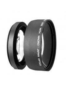 58MM 0.45x Wide Angle Macro Camera Lens for Canon EOS 350D 400D 450D 500D 1000D 550D 600D 1100D DSLR