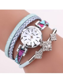 DUOYA D255 Flower Dial Show Fashionable Women Bracelet Watch Tourist Dress Retro Style Quartz Watch