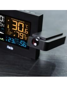 FanJu FJ3391 Weather Station Alarm Clock with Projection Weather Monitor Calendar Backlight Desk Clock