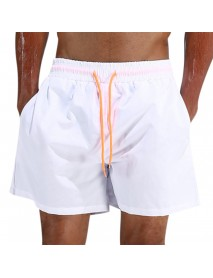 ESCATCH Waterproof Sport Drawstring Loose Thin Lightweight Solid Color Men Casual Beach Board Shorts