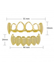 4 Colors Hiphop Grillz Hip Hop Gold Braces Teeth Jewelry Set