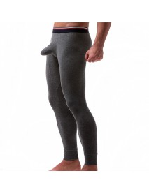 Home Soft Comfy Long Johns U Convex Pouch Design Leggings Bottoming Sleepwears for Men