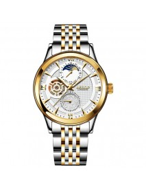 Aesop 9019G Moon Phase Date Display Automatic Mechanical Watch Business Style Men Watch