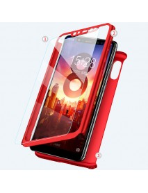 Bakeey 2 in 1 Double Dip 360 Full Protection PC With Screen Protector Case for Xiaomi Mi8 Mi 8