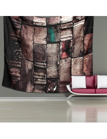 Hanging Tapestry Retro Art 3D Brick Stone Printed Bedroom Home Dorm Wall Decorations