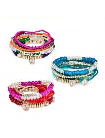 Bohemian Multilayer Bracelet Beads Crystal Bracelets Women Accessories