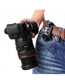 PULUZ PU231 Capture Camera Clip Aluminum Alloy Quick Release Clip with Plate